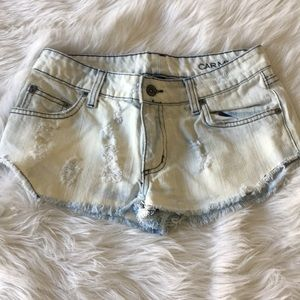 Carmar lightwash cheeky shorts
